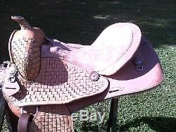 15 USED WESTERN TRAIL or PLEASURE HORSE SADDLE with TRIM on HORN