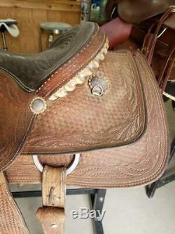 15 Used Mike Beers Crates Western Roping Saddle 2-1100
