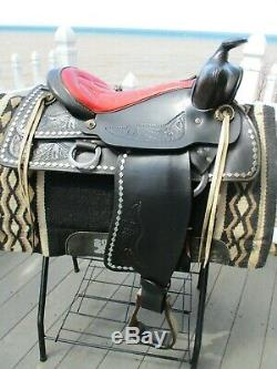 15'' Vintage Black Diamond Western Parade Saddle Sqhb