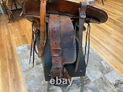 15 Vintage King Saddle Shop Western Roping Saddle