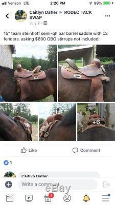 15 team steinhoff barrel saddle