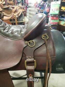 16.5 Used Tucker Western Trail Saddle 3-1579-2