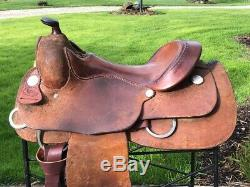 16 BILLY ROYAL Comfort Classic Rough Out Western Training Saddle Excellent