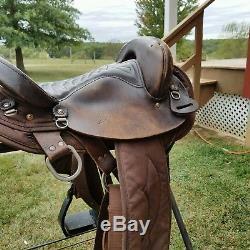 16 Big Horn w Endurance Stirrups Saddle 120 Brown Codura Lightweight 7 gullet