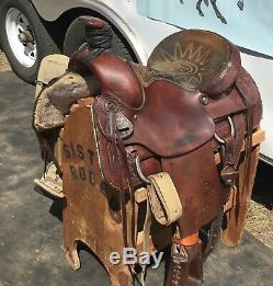 16 Billy Cook All Around Roping Western Saddle