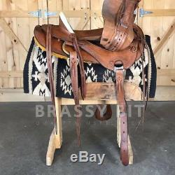 16 Billy Cook Sulphur, OK Arbuckle Wade Ranch Roper Western Saddle
