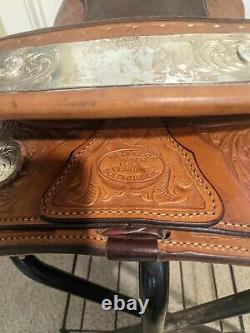 16 Billy Cook Western Show Saddle Medium Oil