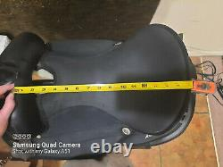 16 Black Abetta Western Horse Saddle with 7 Gullet and FQHB