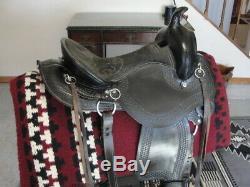 16 Black Western Highback Gaited Trail Or Pleasure Saddle
