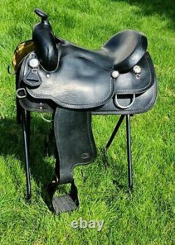 16 Black Wide Crates Western Saddle