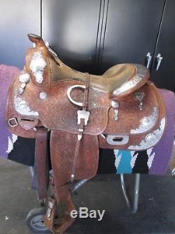 16 Blue Ribbon Show Saddle Pretty Silver