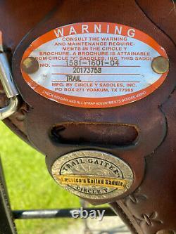 16 CIRCLE Y Alabama Trail Gaiter Western Saddle Spider Border Flex 2