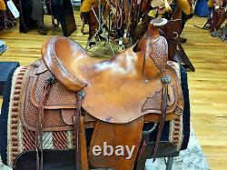 16 Circle Y A Fork Western Roping Saddle