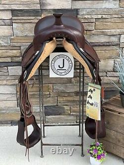 16 Circle Y Flex 2 Western Trail Saddle- Whoa! Clean