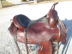 16 Circle Y Flex Tree OMAHA Nice saddle and light too