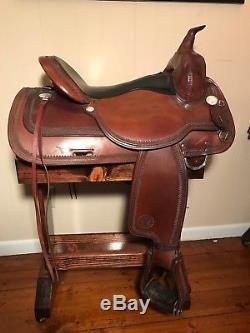 16'' Circle Y Topeka Western Trail Saddle W Full Qh Bars & Matching Breastplate