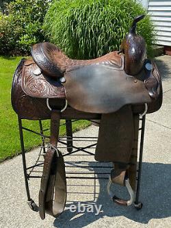 16 Felipe Sanchez Western Cutting Saddle