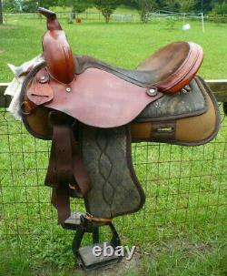 16 H&H Cordura Western Trail Saddle with Full QH bars in Camouflage