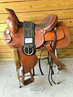 16 H & H Roper Roping Trail Ranch Western Horse Saddle & Cinch FQHB Made in USA