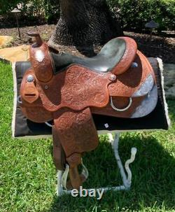 16 HR Custom Western Show Saddle WIDE