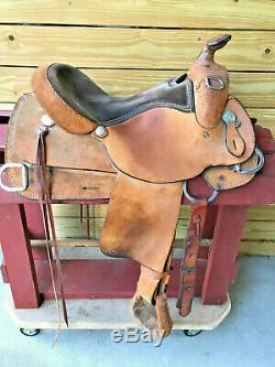 16 Johnny Ruff Custom Roughout Reiner Training Western Horse Saddle Made in USA
