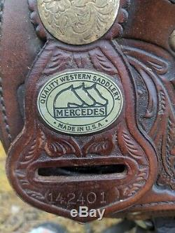16 Mercedes Western Saddle