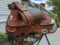 16 Original Billy Cook Maker Pleasure Reiner Show Western Saddle Model 3299