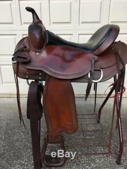 16 Reinsman Western Trail Saddle -Comfort fit round skirt saddle