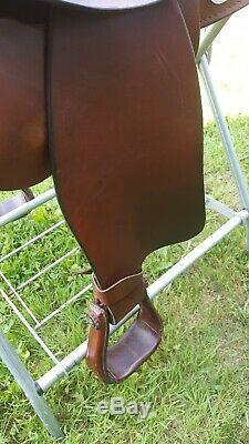 16 SIMCO Saddlery Haflinger Western Trail Saddle Chestnut Leather nice used
