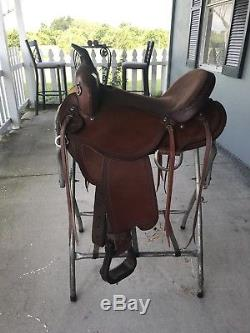 16 Trail Saddle Made By Johnny Ruff 7 Gullet FQHB Excellent Condition