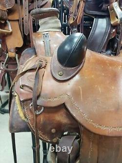 16 Used Montana Horseman Western Wade Saddle 255-1027