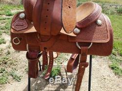 16 Used Sean Ryan Cutting Western Saddle 2-1202