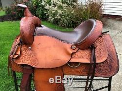 16 VH Saddlery All Around Western Horse Saddle w Padded Seat
