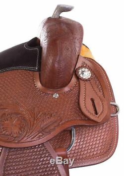 16 Western Horse Saddle Trail Pleasure Reining Show Leather Pro Tack Set Used