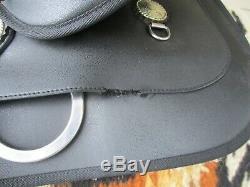 16'' black Wintec western saddle Cordura & Leather QHB