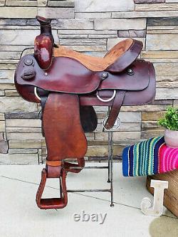 17 Blue Ridge Roping Saddle, Western, Ranch Saddle, Clean