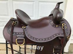 17 CIRCLE Y Big Sky FLEX LITE Western Trail Saddle Model #1655 EXCELLENT