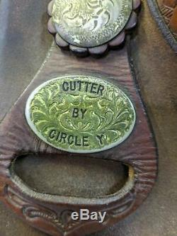 17 Circle Y Cutter Western Saddle