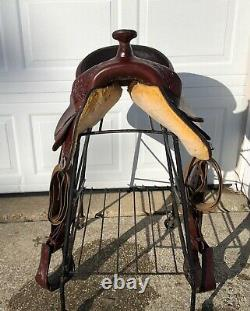 17 Circle Y PARK & TRAIL Western Horse Saddle Soft Leather! 8 Gullet