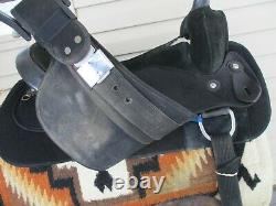 17'' Circle Y Park & Trail Black Synthetic Western Saddle