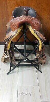 17 Corriente Ranch Cutter Western Saddle Roping Leather Tooling Cutting