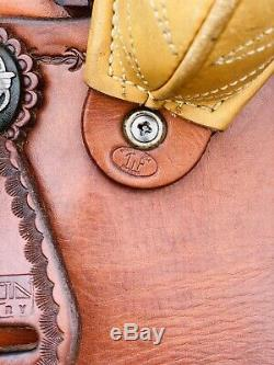 17 Martin Wade Saddle- Floral Tooled- Stunning Western Saddle, Ranch, Cowboy