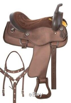 17 in PLEASURE TRAIL RIDING BARREL RACING WESTERN HORSE SADDLE USED TACK