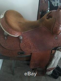 18 Custom Made Broken Horn Western Show Saddle #4679