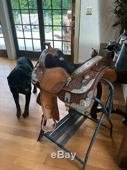 2011 Original Billy Cook Western Show Saddle USED TWICE 16 in Billycook
