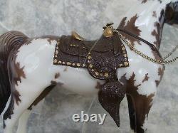 2014 BreyerFest SR Gossamer Glossy Grullo Tobiano Western Horse w Saddle 600 Pcs