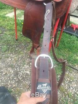 American Made Western Trail Saddle 17 Full Bar