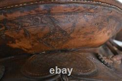 Antique 1900 George Lawrence CO. Western Riding Saddle Collectable GL Portland
