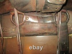 Antique 1933 Western Saddle #497 Miles City MT Collectable withphoto provenance