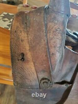 Antique A Fork Saddle High Back 13 Barn Find Collectable western